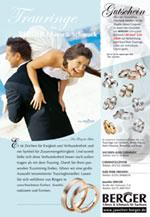 Anzeige für Juwelier BERGER 2007